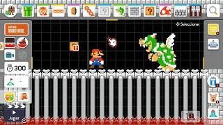 SUPER MARIO MAKER 2 / Editor de niveles de Nintendo Switch | Mario vs Bowser pixelado