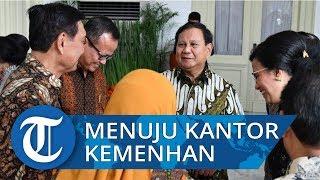 VIDEO: Prabowo Subianto Bergegas Menuju Kantor Kementerian Pertahanan seusai Dilantik Jokowi