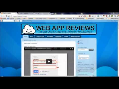 Video Tour of Web App Reviews: The Best Chrome Apps & Extensions for Education