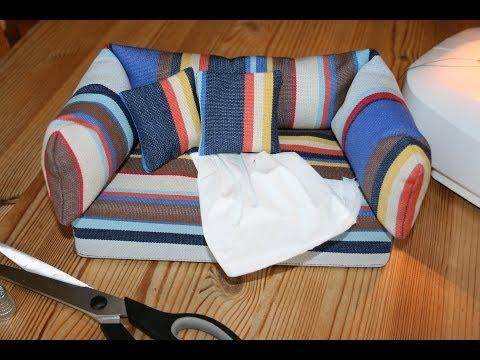 Hülle für Taschentuchbox mit Schnittmuster