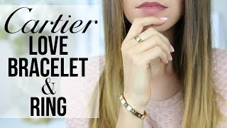 CARTIER LOVE BRACELET AND RING | Story, Review, Wear & Tear | Shea Whitney