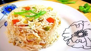 How To Make Vegetable Egg Fried Rice-Chinese-Restaurant Style by (HUMA IN THE KITCHEN)
