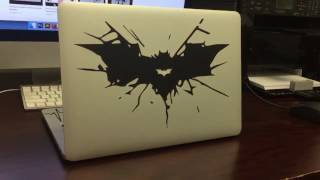 How To Apply Batman Decal Stickers To Your Macbook