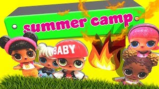 LOL Surprise Dolls go to Summer Camp! Starring My Little Ponies, Madame Queen and MC Swag!
