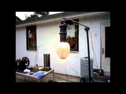 Siemens & Halske Bogenlampe in Betrieb