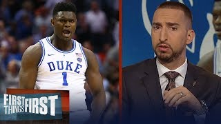 Nick Wright reacts to Zion Williamson's return | CBB | FIRST THINGS FIRST