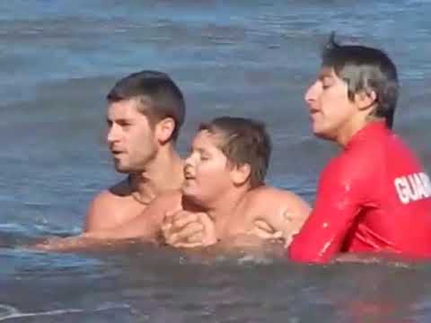 Las Grutas, GUARDAVIDAS, rescate