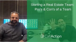 Starting a Real Estate Team in 2020? Learn the pros and cons of building a  top real estate team.