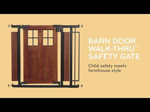Evenflo Barn Door Walk-Thru Gate, part of the Evenflo Farmhouse Gate Collection