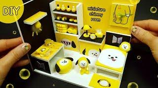 DIY Miniature BTS BT21 chimmy room! yellow ~