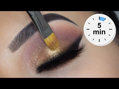 5 MINUTE Smoked Eye Look   Using Affordable Products