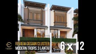 Video Desain Cluster Modern 3 Lantai Royale Indah Kapuk Cengkareng di  Jakarta Barat
