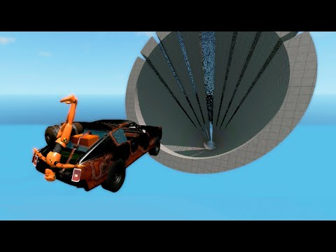 CRAZY Cars Wipeout #6 - Beamng.DRIVE