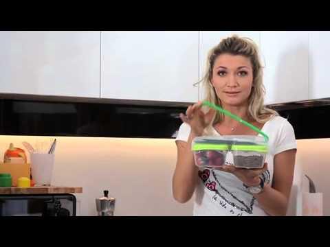 BREAK - doppio contenitore per alimenti con portaposate