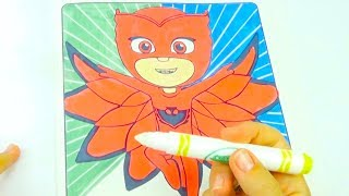 Волшебная раскраска Герои в Масках, учим цвета
