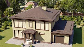 Проект дома 288-A, Площадь дома: 288 м2, Размер дома:  13,8x16,3 м