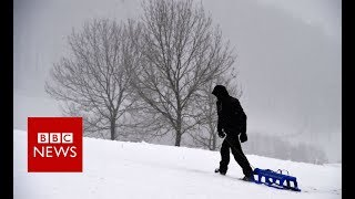 Heavy snow hits parts of Europe - BBC News