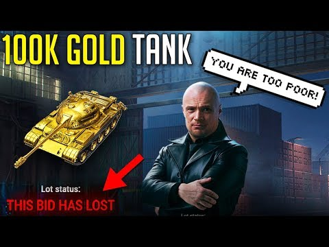 The 100k Gold Tank, New Most Expensive Tank in World of Tanks? | Type 59 Gold Black Market 2020
