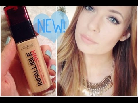 NEW L'Oreal 24 Hour Infallible Foundation | First Impressions & Review!