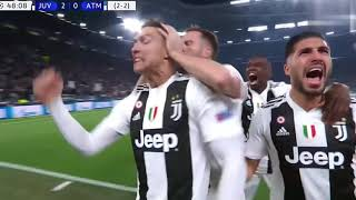 Juve Atletico Madrid 3 0 Highlights
