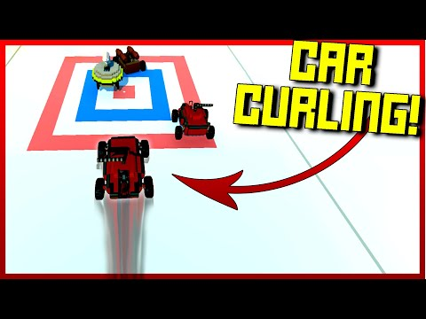 New Low Friction Ice Block Allows Epic Car Curling! - Scrap Mechanic Multiplayer Monday