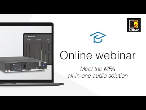 MFA216 Meet the MFA all-in-one audio solution