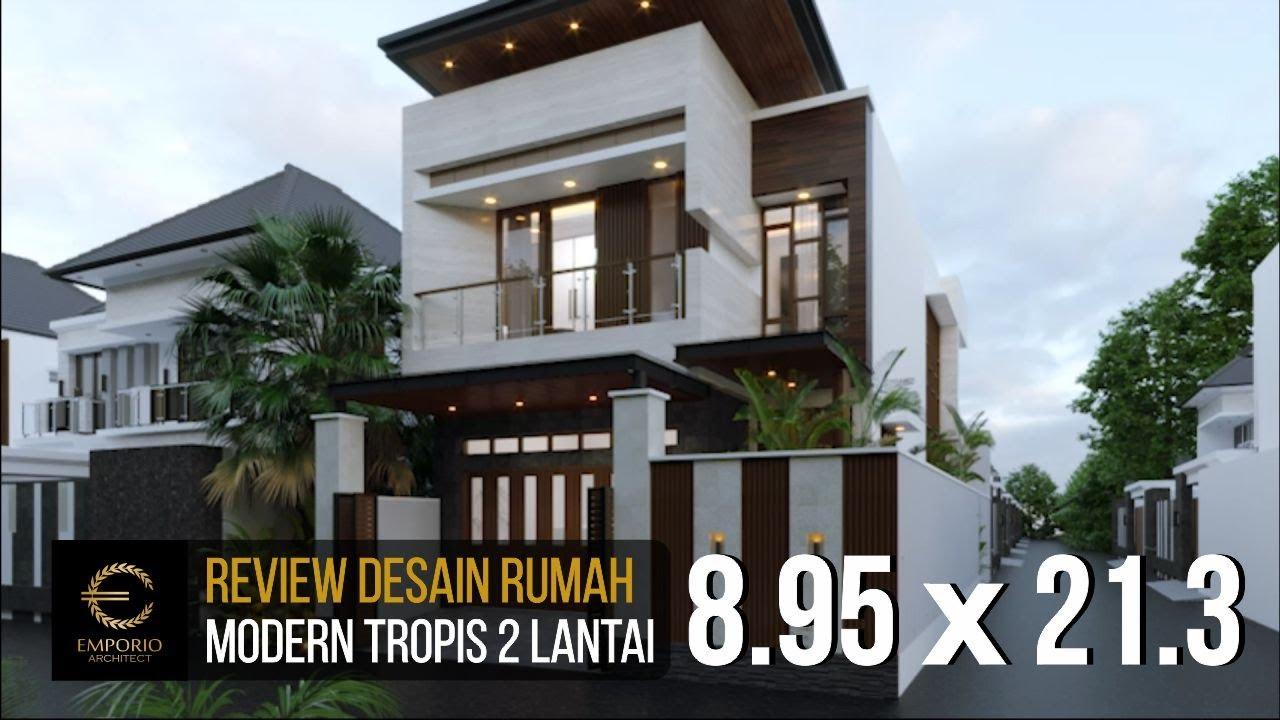 Video 3D Desain Rumah Modern 2 Lantai Ibu Silvi di Surabaya