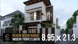 Video Desain Rumah Modern 2 Lantai Ibu Silvi di  Surabaya