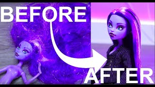 Doll Hair Makeover Transformation : Fix Tangled Doll Hair EASY