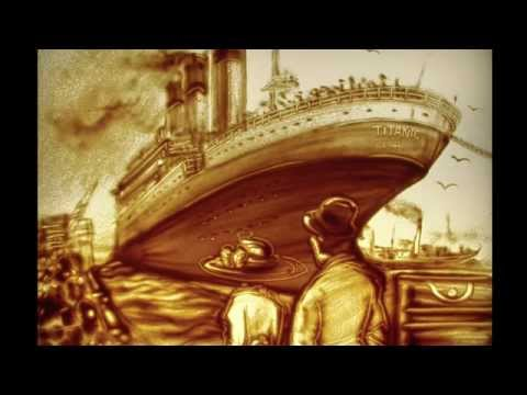 Chuyện Tình Titanic được kể lại bằng tranh cát