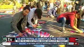 Dr. Seuss themed display at Via Arte Festival with Highland Art Club
