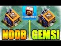 NOOB GEMS BUILDER HALL 9 IN CLASH OF CLANS!!