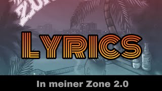 RAF Camora   In Meiner Zone 2.0 (Lyrics)