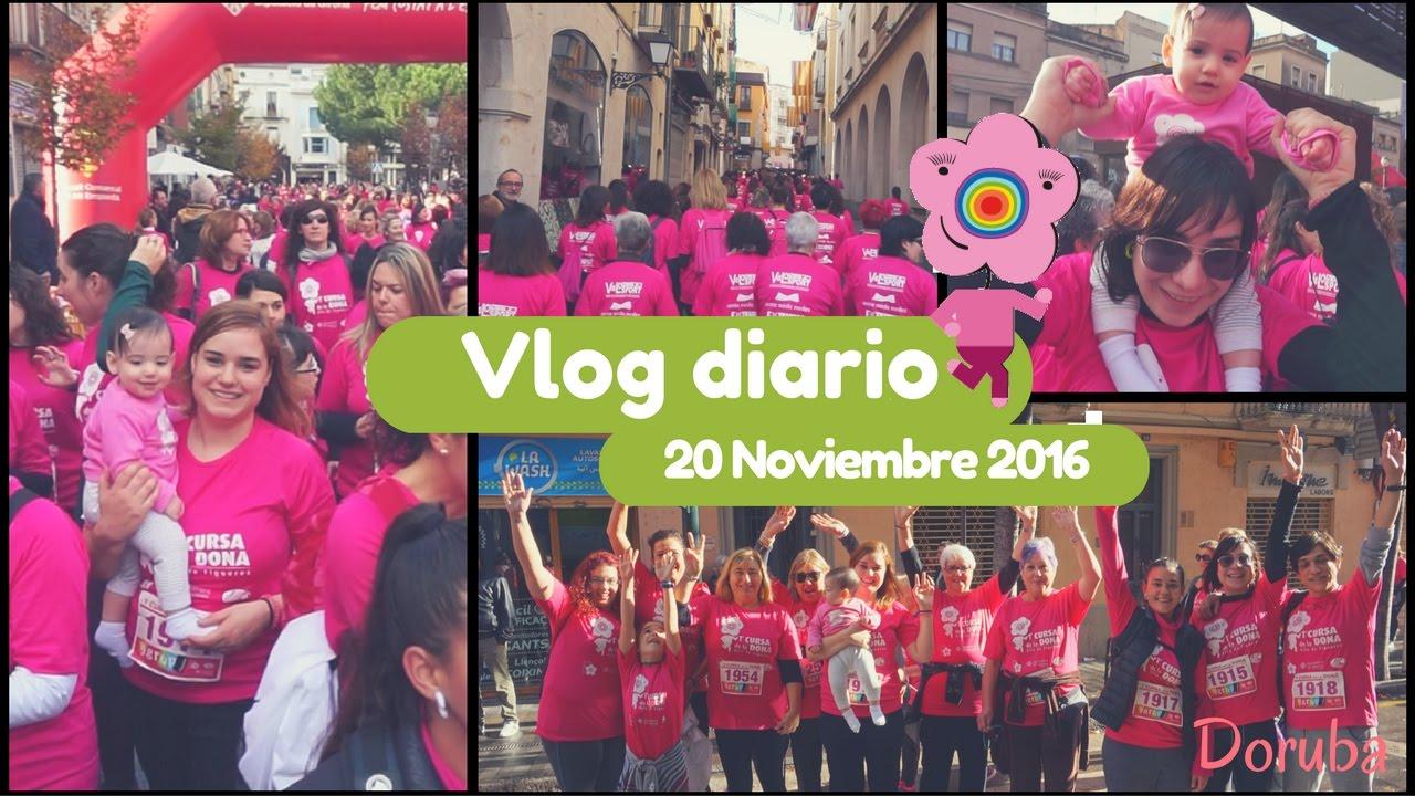 VLOG Cursa de la Dona Vila de Figueres -- Participamos a una marcha solidaria -- 27-11-16 -- Doruba
