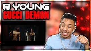 B Young   Gucci Demon (Official Video) ReactionReview Video