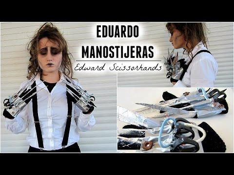 Disfraz Eduardo ManosTijeras - DIY Manos, Maquillaje Y Peinado | Edward Scissorshands