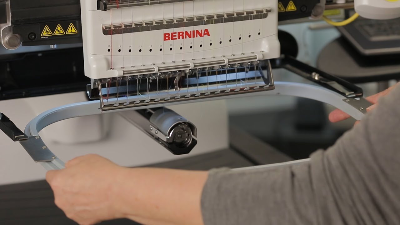 BERNINA E 16 Tutorial: Attaching or Moving the Hoop Support Arms