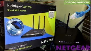 Netgear R6700 Nighthawk AC1750 Dual Band Smart Wifi Router & Mediabridge CAT6 Ethernet Cables Review