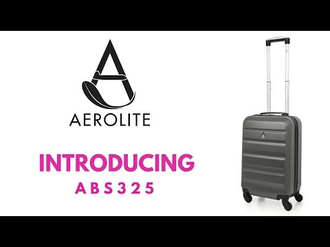 Best Cabin Luggage Case Ever? AEROLITE - ABS325 CHARCOAL