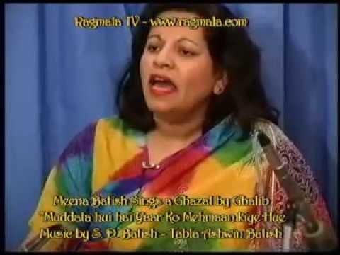 Ghalib Ghazal sung by Meena Batish, Music & harmonium by S D Batish, Ashwin Batish on tabla