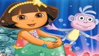 DORA THE EXPLORER - Dora's Mermaid Adventures Movie Game | New Full Game HD (Children Game)