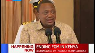 President Kenyatta urge cultural leaders to abandon FGM in respect and a show of dignity to Kenyan w