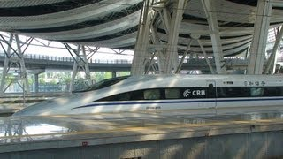 Video : China : Rail link begins with world's fastest train (~400 km/hr)