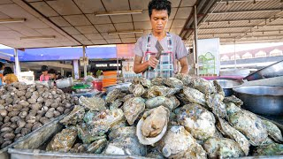 Street Food OYSTER BAR!! Seafood Mountain in Surat Thani, Thailand!