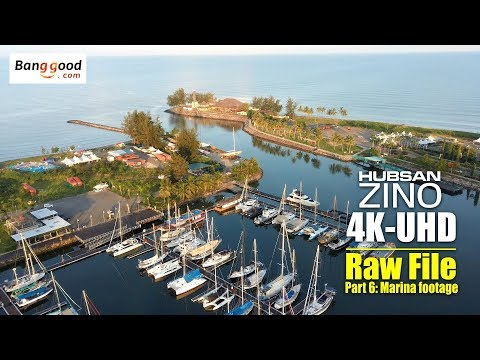 HUBSAN ZINO H117s 4K UHD drone -Part 6: 4K raw video of Marina footage