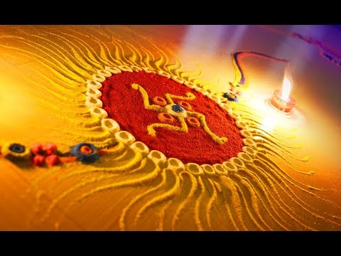 Easy rangoli design for Festival RAKSHA BANDHAN _ 7colours