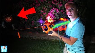HUNTING MONSTER IN THE POOL With Monster Hunting Blaster!