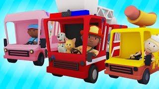 Trucks At The Car Wash! | Best of Carl's Car Wash Season 1 | Cartoons For Kids