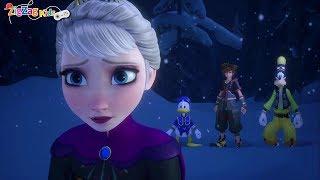 Kingdom Hearts III | Donald Goofy Sora Meet Elsa | Ice Labyrinth | Frozen | Episode 22 | ZigZag Kids