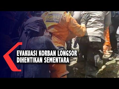 Evakuasi Korban Longsor Dihentikan Sementara